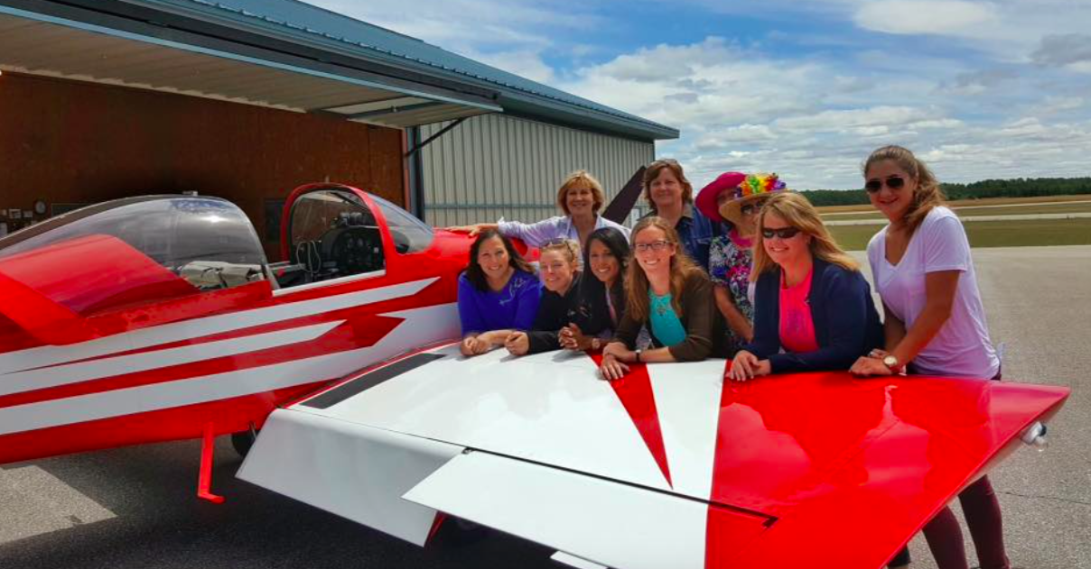 THE WORLDS LARGEST ORGANIZATION OF FEMALE PILOTS